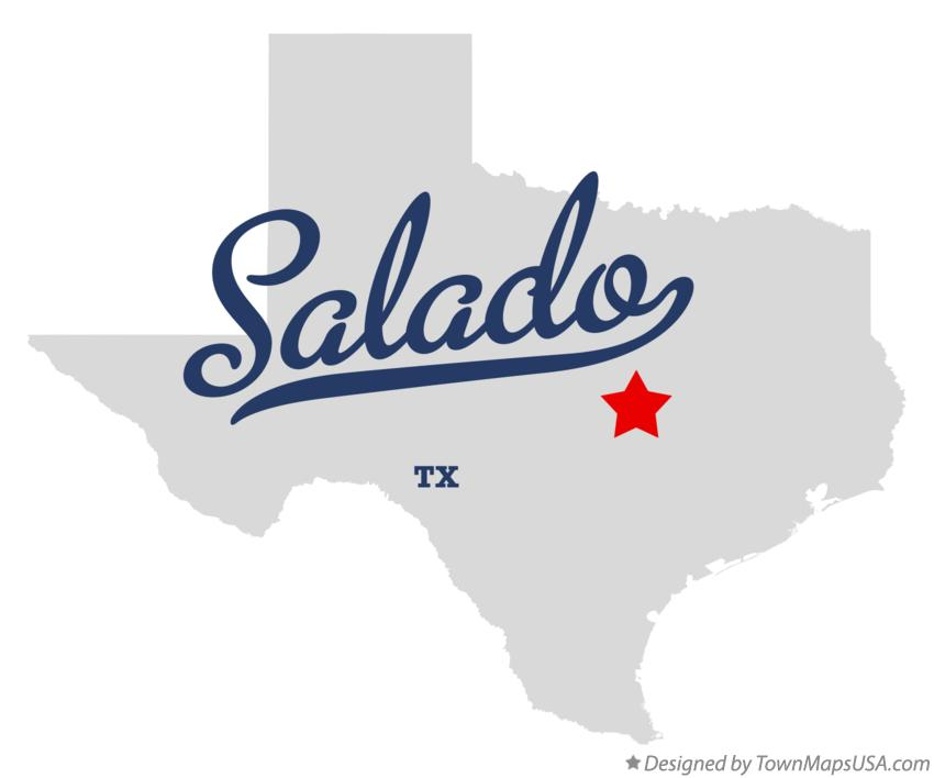 Map of Salado Texas TX