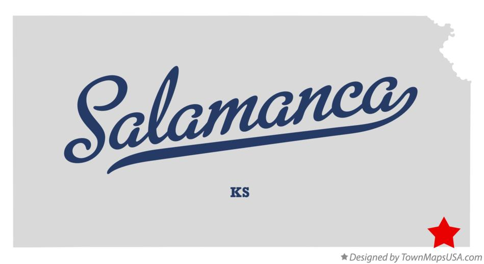 Map of Salamanca Kansas KS