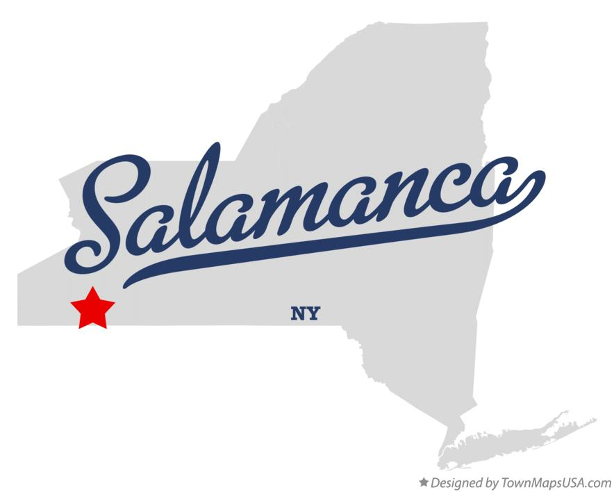 Map of Salamanca New York NY