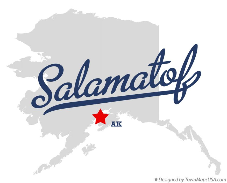 Map of Salamatof Alaska AK