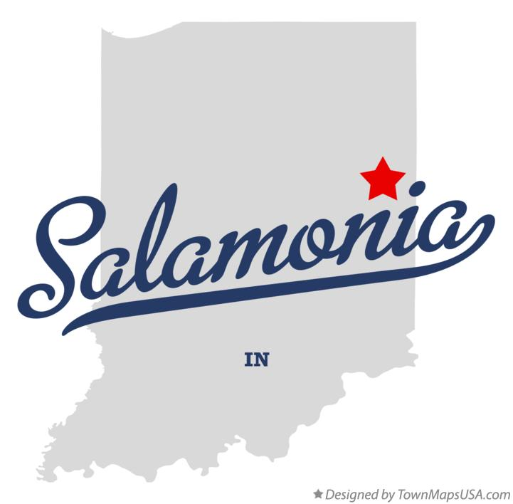 Map of Salamonia Indiana IN