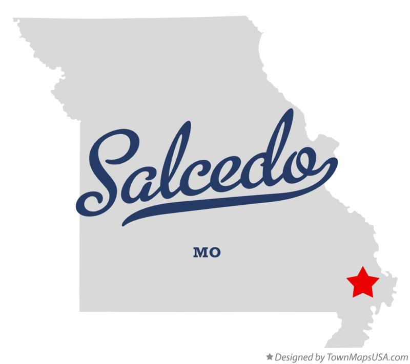 Map of Salcedo Missouri MO