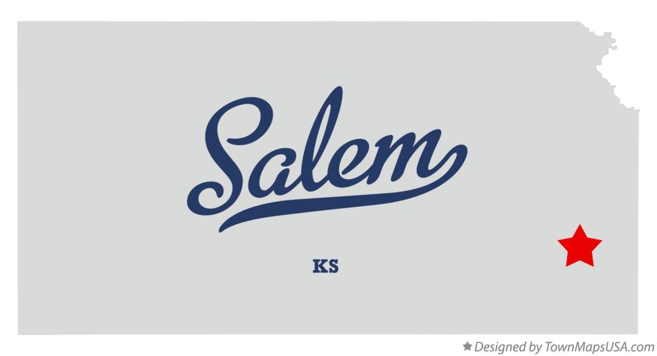 Map of Salem Kansas KS
