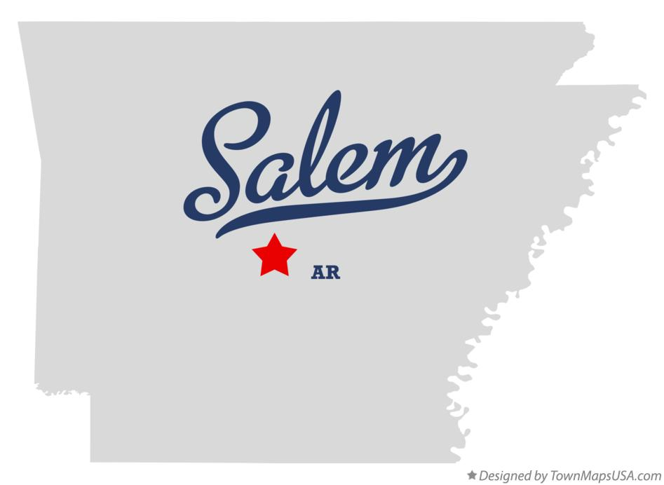 Map of Salem Arkansas AR
