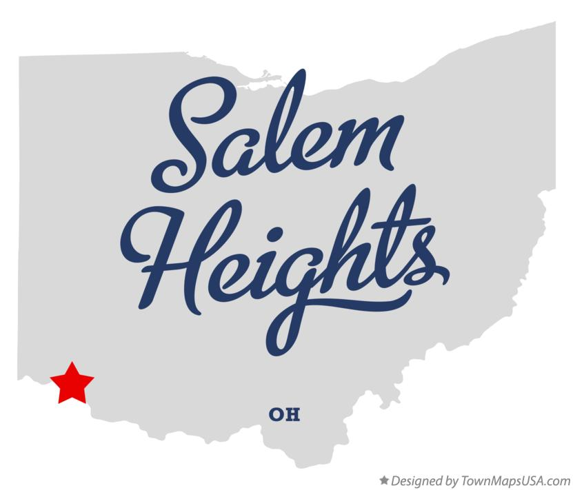 Map of Salem Heights Ohio OH
