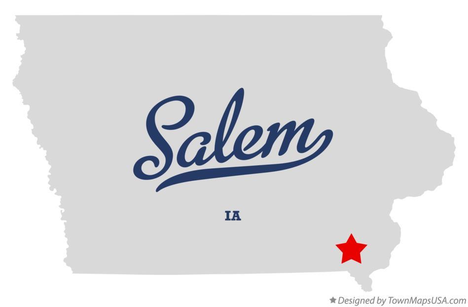 Salem Iowa Map.Map Of Salem Ia Iowa