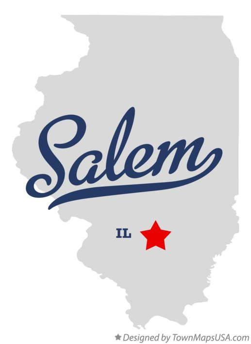 Map of Salem Illinois IL