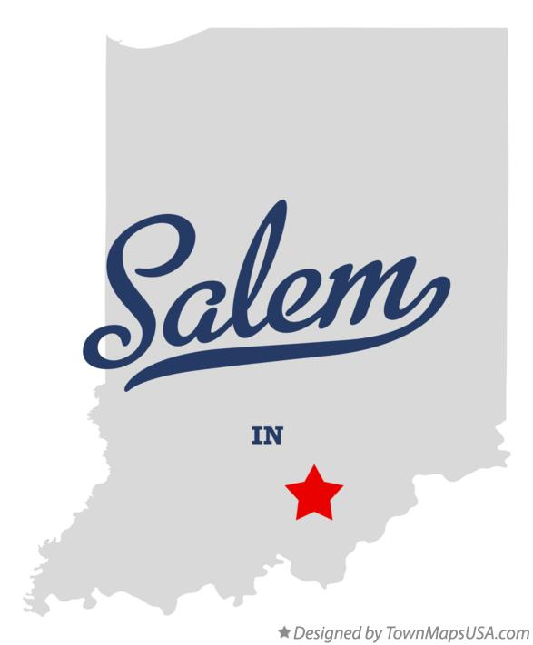 Map of Salem Indiana IN