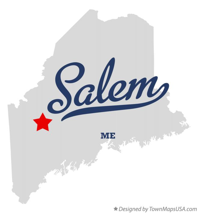 Map of Salem Maine ME