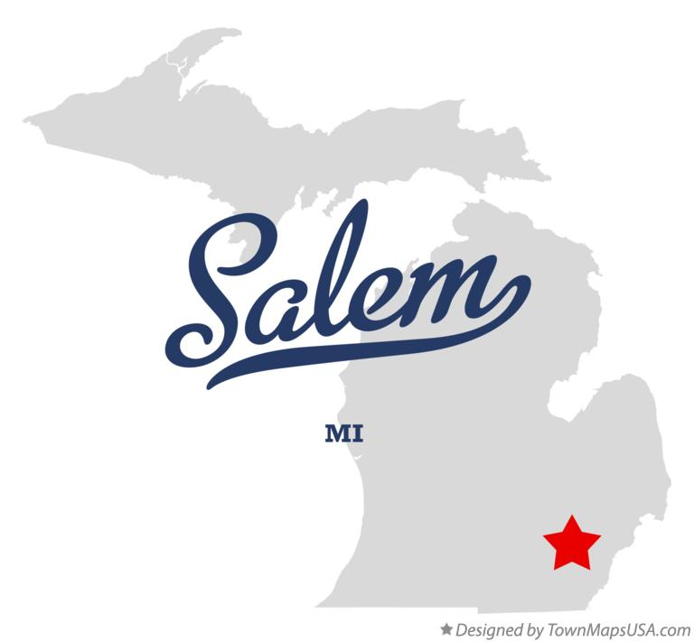 Map of Salem Michigan MI
