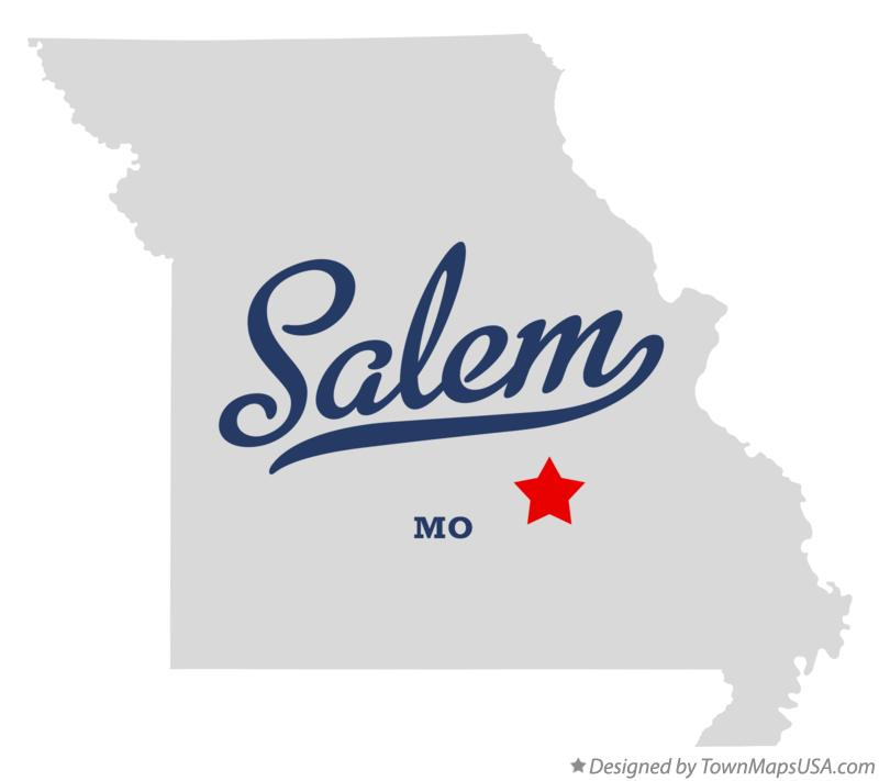 Map of Salem Missouri MO