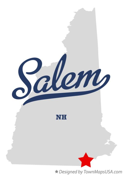 Map of Salem New Hampshire NH