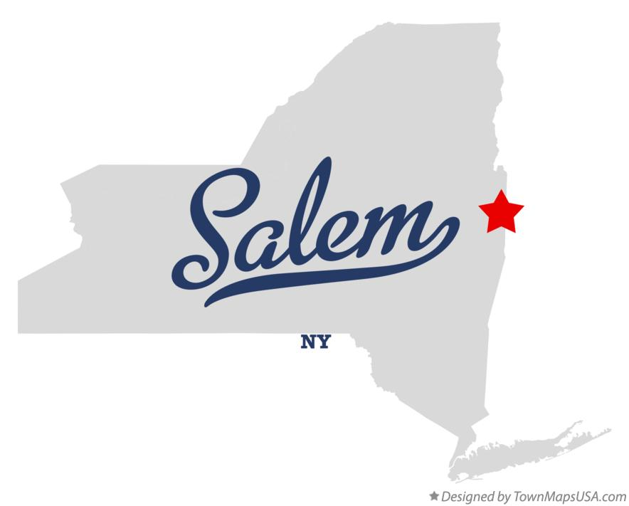 Salem New York Map.Map Of Salem Ny New York