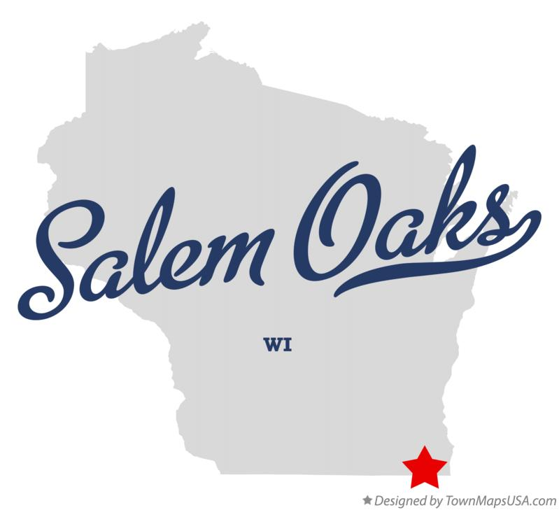 Map of Salem Oaks Wisconsin WI