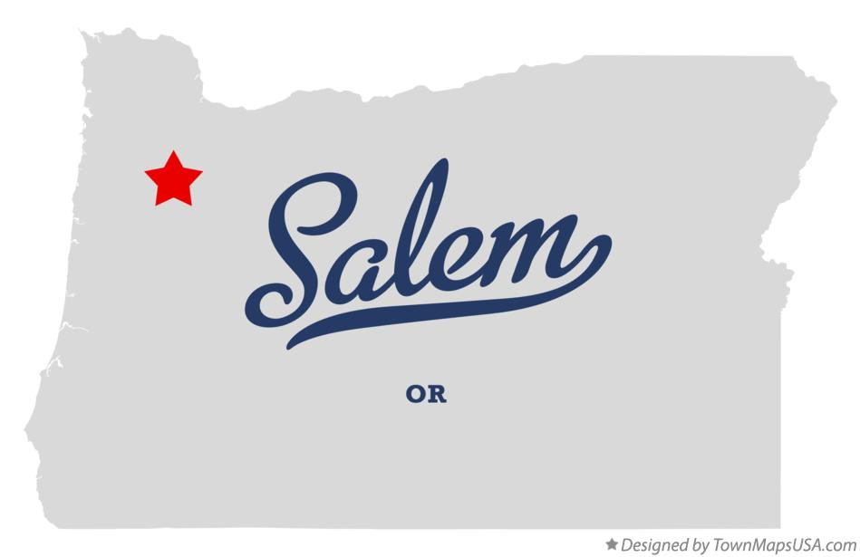 Map of Salem, OR, Oregon