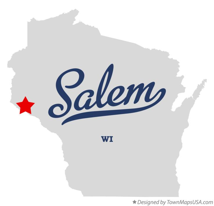 Map of Salem Wisconsin WI