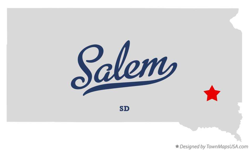Map of Salem South Dakota SD
