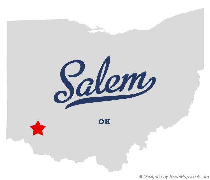Map of Salem Ohio OH
