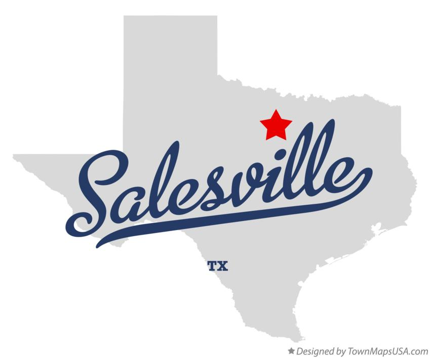 Map of Salesville Texas TX