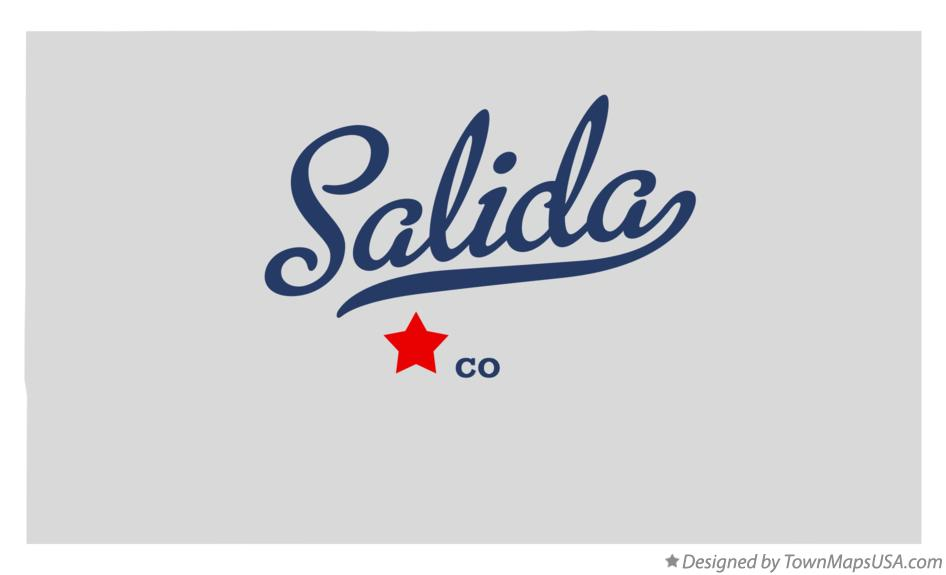 Map of Salida Colorado CO