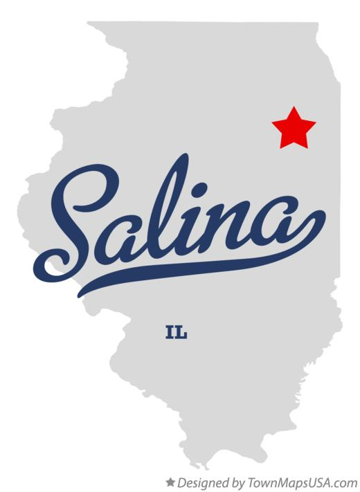 Map of Salina Illinois IL