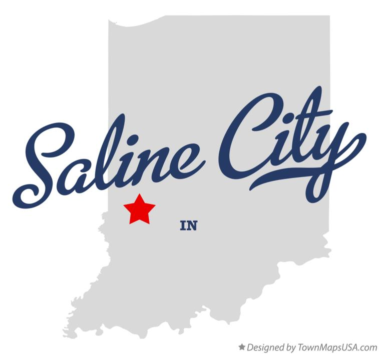 Map of Saline City Indiana IN