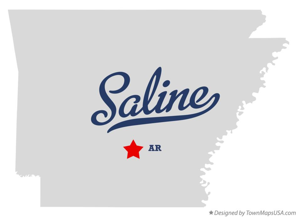 Map of Saline Arkansas AR