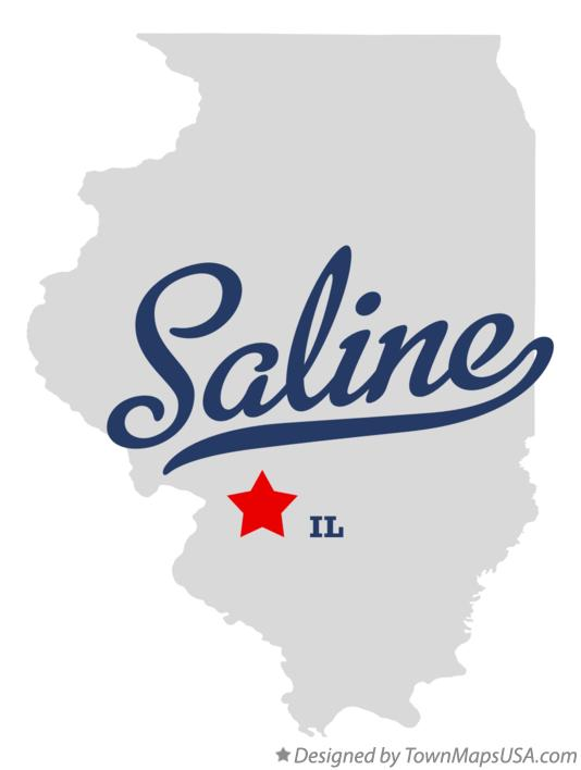 Map of Saline Illinois IL