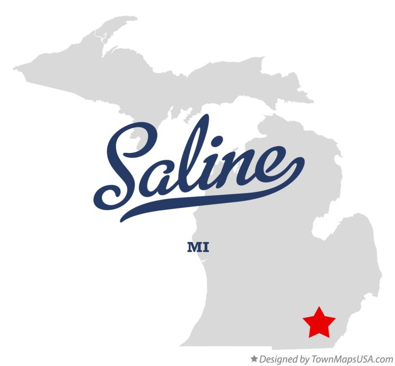 Map of Saline, MI, Michigan