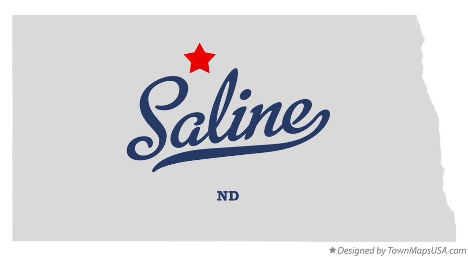 Map of Saline North Dakota ND