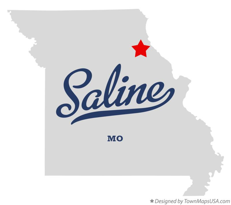 Map of Saline Missouri MO