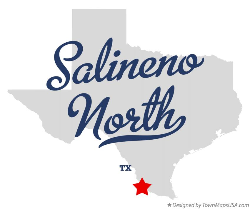 Map of Salineno North Texas TX