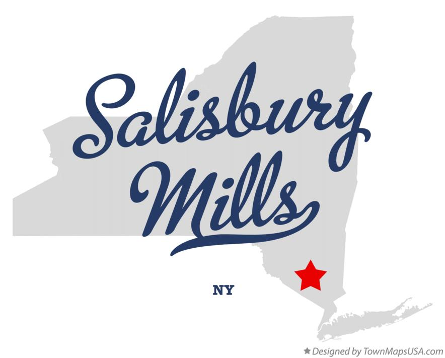 Map of Salisbury Mills New York NY