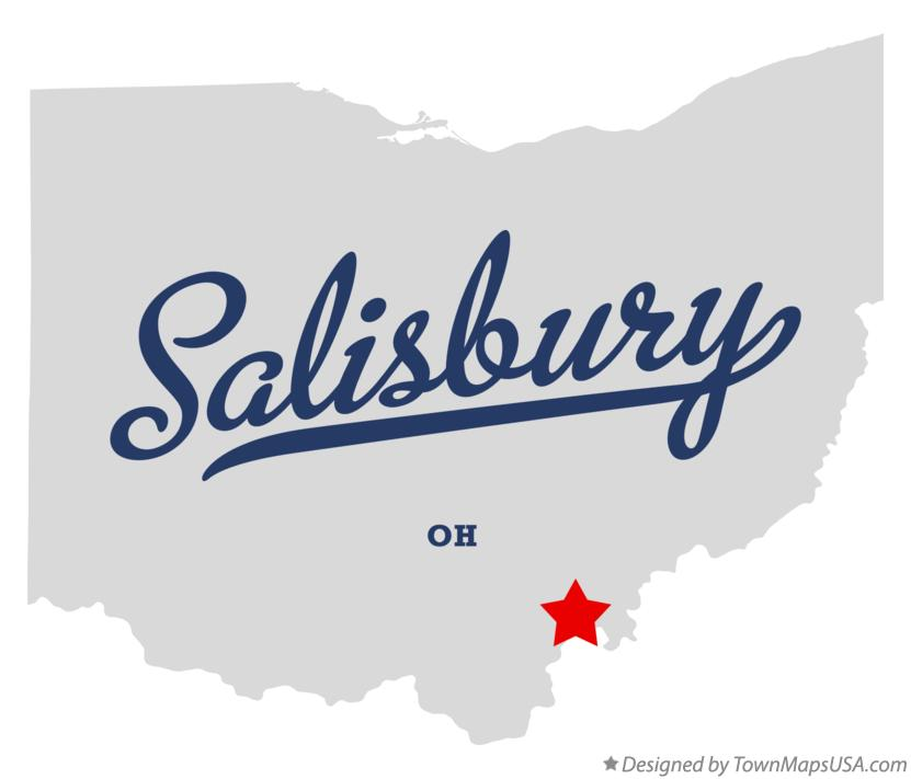 Map of Salisbury Ohio OH