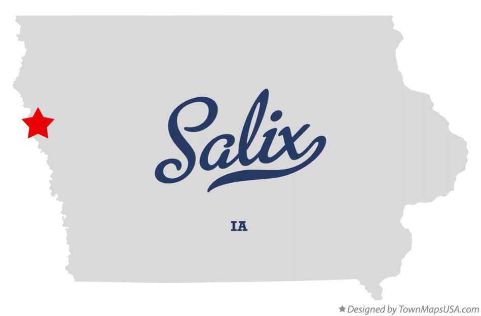 Map of Salix Iowa IA