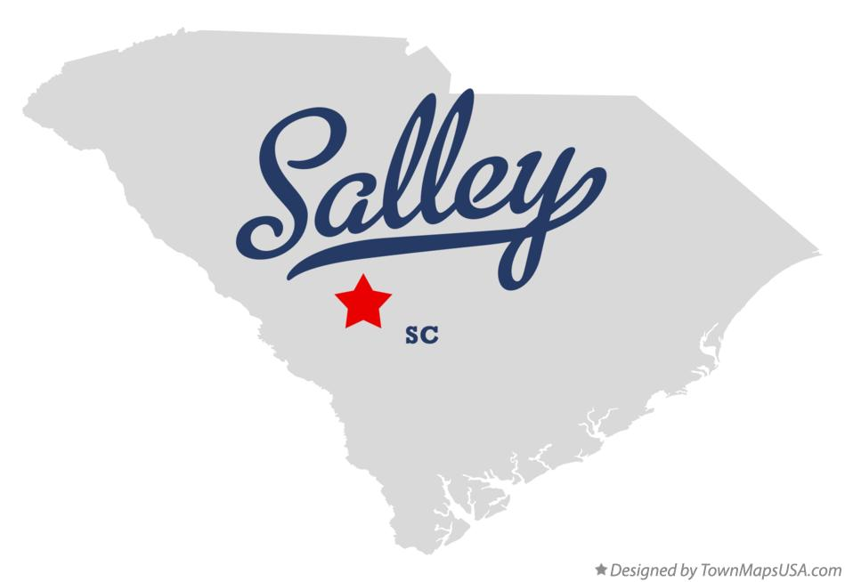 Map of Salley South Carolina SC