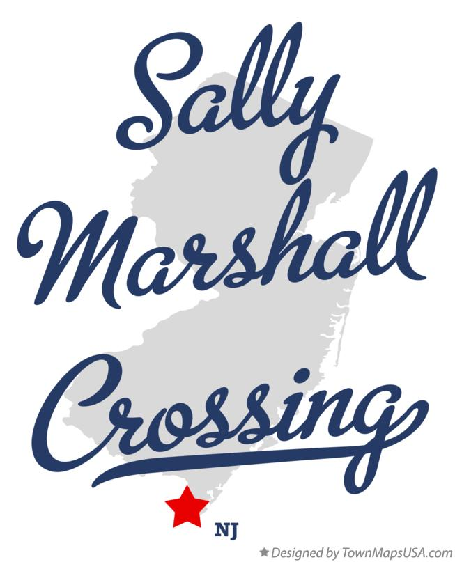 Map of Sally Marshall Crossing New Jersey NJ