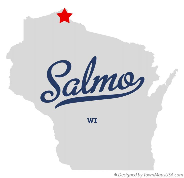 Map of Salmo Wisconsin WI