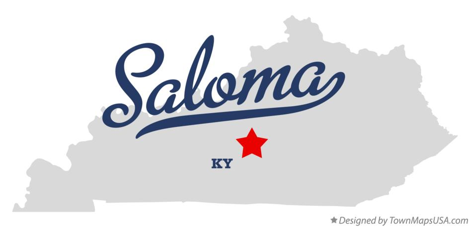 Map of Saloma Kentucky KY