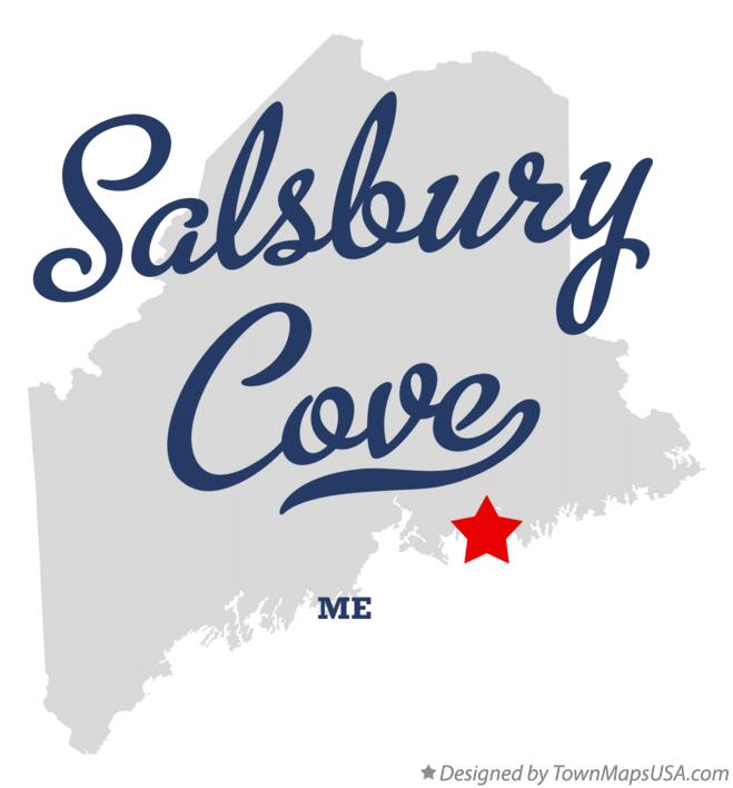 Map of Salsbury Cove Maine ME