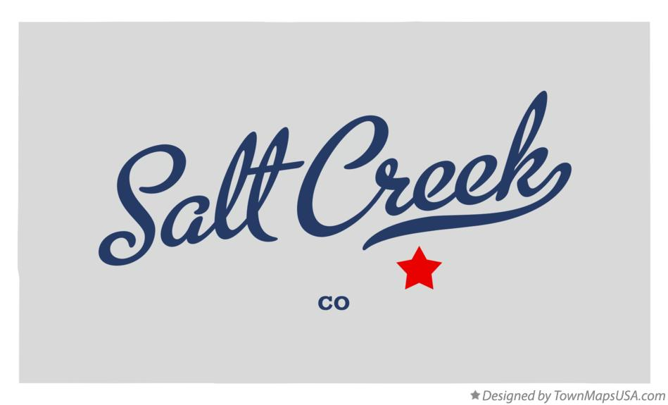 Map of Salt Creek Colorado CO