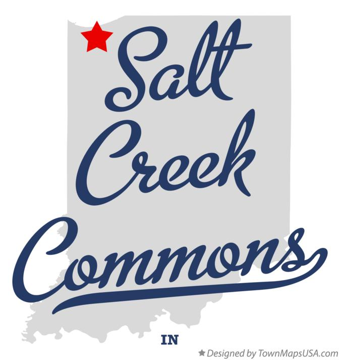 Map of Salt Creek Commons Indiana IN