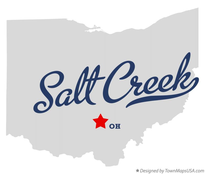 Map of Salt Creek Ohio OH