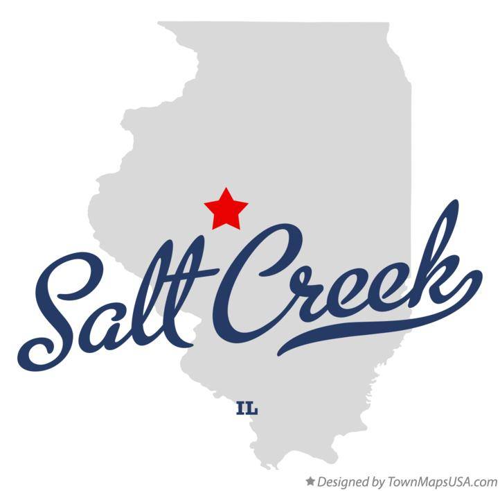 Map of Salt Creek Illinois IL