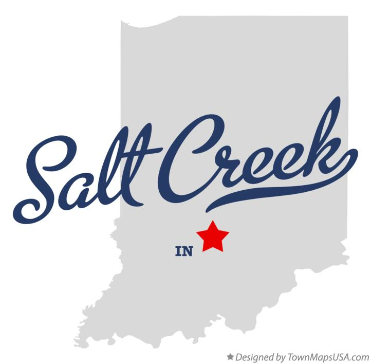 Map of Salt Creek Indiana IN