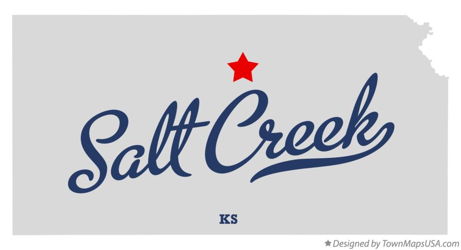 Map of Salt Creek Kansas KS