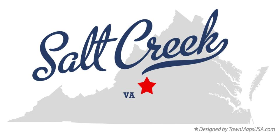 Map of Salt Creek Virginia VA