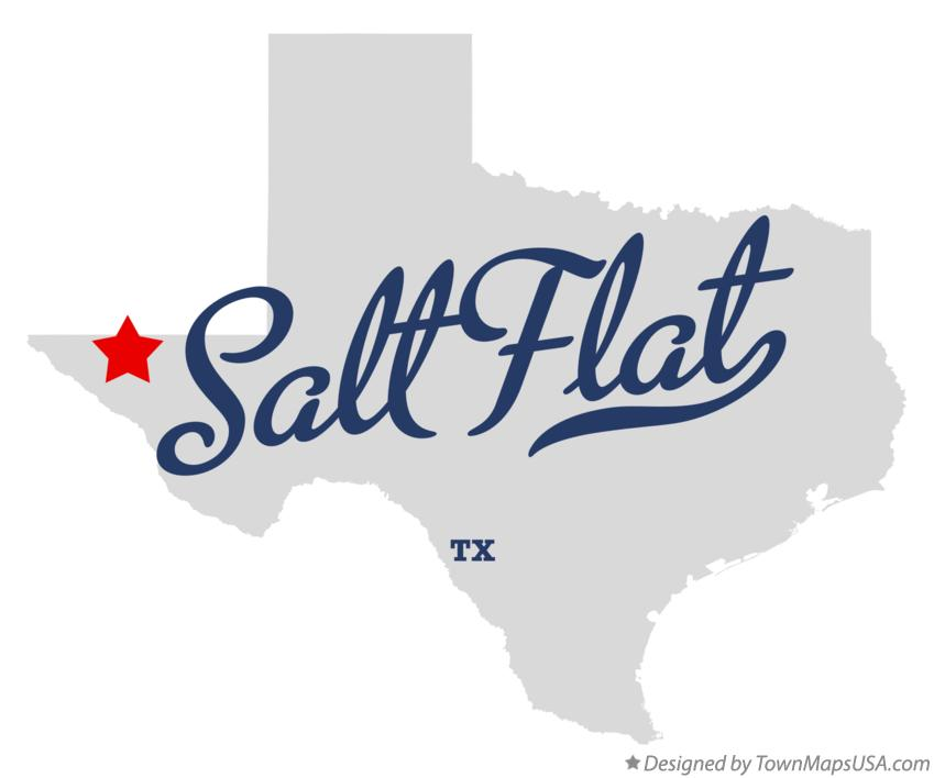 Map of Salt Flat Texas TX