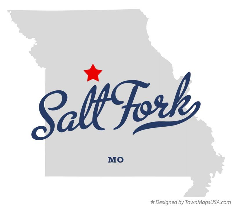 Map of Salt Fork Missouri MO