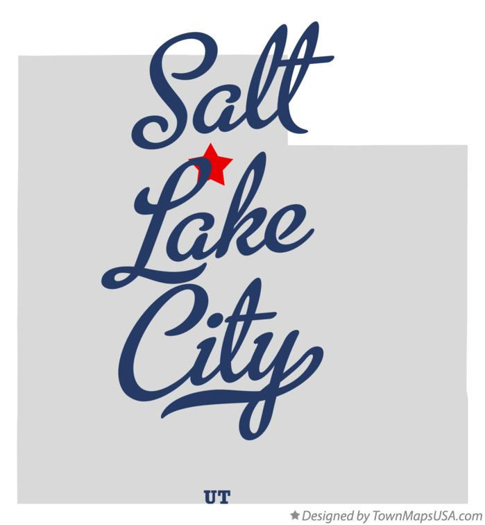 Map of Salt Lake City, UT, Utah